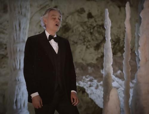Il concerto di Andrea Bocelli nelle Grotte di Frasassi